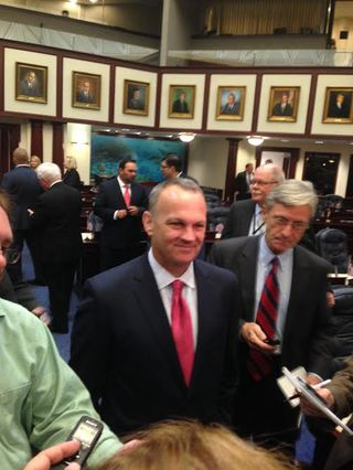 Corcoran with reporters
